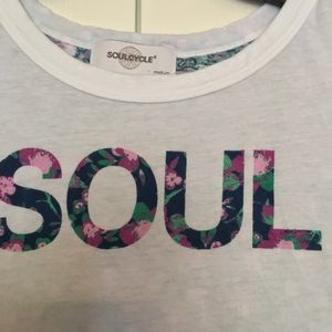 soulcycle l floral back tank